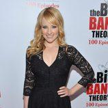 Melissa Rauch en la fiesta de 'The Big Bang Theory'