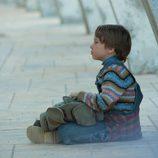 El pequeño Lucas, compañero de viaje de Marco
