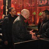 Laz Alonso, Domenic Lombardozzi y Malcom Goodwin en 'Ex-Convictos'