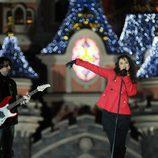 Chenoa canta en Disneyland París en 'La noche en paz'