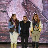 Raquel Bollo, Nagore Robles y Jorge Javier Vázquez