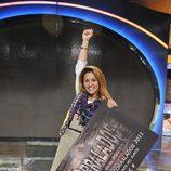 Nagore Robles posa como ganadora de 'Acorralados 2011'
