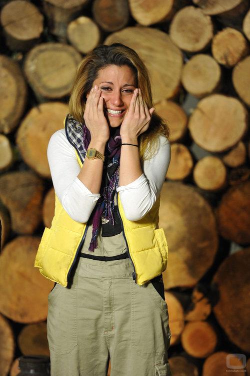 Nagore Robles llora durante la final de 'Acorralados'