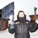 El presentador Mario Picazo el en programa 'Climas extremos'