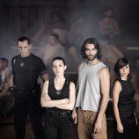 Protagonistas de la nueva ficción de Telecinco, 'La fuga'