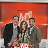 Maxim Huerta, Ana Rosa Quintana y Joaquín Prat celebran los 7 años de 'El programa de Ana Rosa'