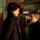 Holmes y Watson en el primer capítulo de 'Sherlock'