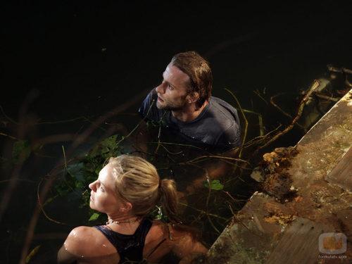 Joe Anderson y Eloise Mumford en el Amazonas en 'The River'