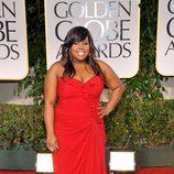 Amber Riley en los Globos de Oro 2012