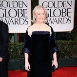 Glenn Close en la alfombra roja de los Globos de Oro 2012