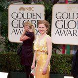 Mireille Enos en los 'Globos de Oro 2012'