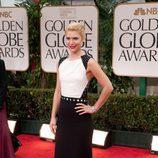 Claire Danes en los Globos de Oro 2012