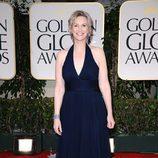 Jane Lynch en la alfombra roja de los Globos de Oro 2012