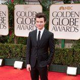 Chris Colfer en los Globos de Oro 2012