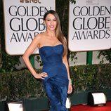 Sofía Vergara en la alfombra roja de los Globos de Oro 2012