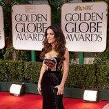 Salma Hayek en los Globos de Oro 2012