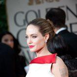 Angelina Jolie en los Globos de Oro 2012