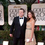 Eric Stonestreet y Katherine Tokarz en los Globos de Oro 2012