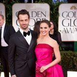 Natalie Portman y Benjamin Millepied en los Globos de Oro 2012