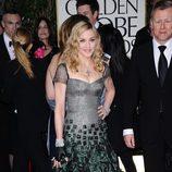 Madonna en los Globos de Oro 2012