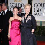 Natalie Portman y Meryl Streep en los Globos de Oro 2012