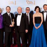 Hugh Bonneville y Elizabeth McGovern en los Globos de Oro 2012