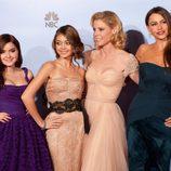 Las chicas de 'Modern Family' en los Globos de Oro 2012