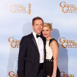 Claire Danes y Damian Lewis en los Globos de Oro 2012