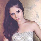 Lucía Ramos vestida de lentejuelas en Overlay Magazine