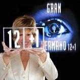 Mercedes Milá junto al logo de 'Gran Hermano 12+1'
