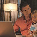 'Dexter' con su hijo Harrison