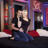 Liria y Ángel, concursantes de 'Sex academy'