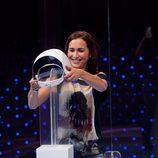 Una de las concursantes  de 'El cubo'
