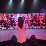Nuria Roca con el público de 'El millonario'
