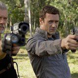 Stephen Lang y Jason O'Mara en 'Terra Nova'