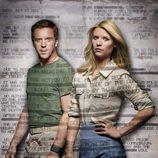 Damian Lewis y Claire Danes de 'Homeland'