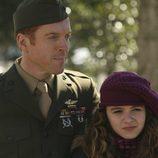Damian Lewis y su hija en 'Homeland' Morgan Saylor