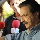 Julián Muñoz, impasible ante los medios en 'Mi Gitana'