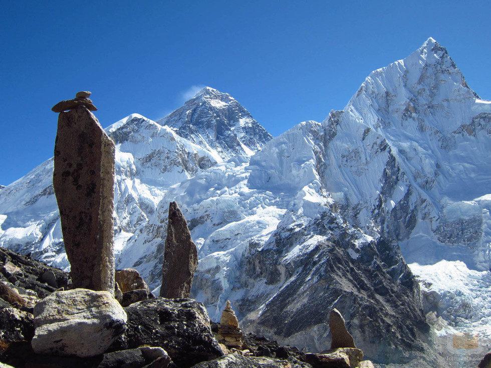 Imagen del Everest y el Lhotse
