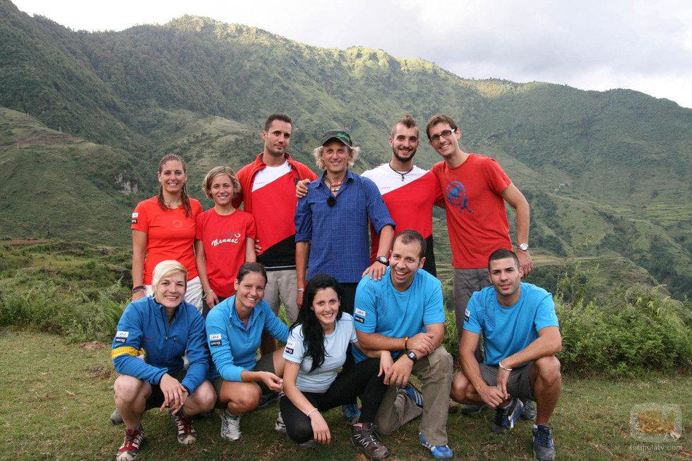 Aspirantes de 'Desafío Everest' con Jesús Calleja