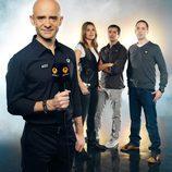 Antonio Lobato y su equipo habitual de retransmisiones