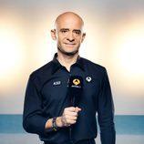 Antonio Lobato con un micro de Antena 3