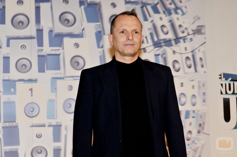 Miguel Bosé en la presentación de 'El número uno'