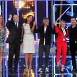 Paula Vázquez en la primera gala de 'El número uno' junto al jurado