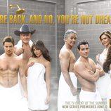 Los protagonistas de 'Dallas' medio desnudos