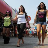 Snooki, Deena y Sammy en la quinta temporada de 'Jersey Shore'