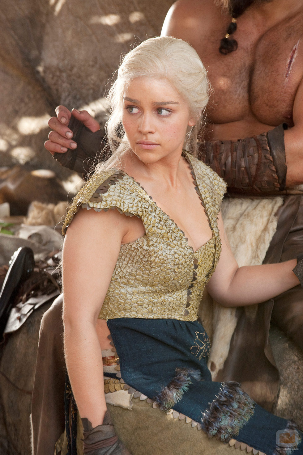 Daenerys Targaryen (Emilia Clarke) es la lideresa del pueblo dothraki en 'Juego de tronos'