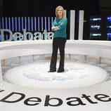 María Casado en el plató de 'El debate de La 1'