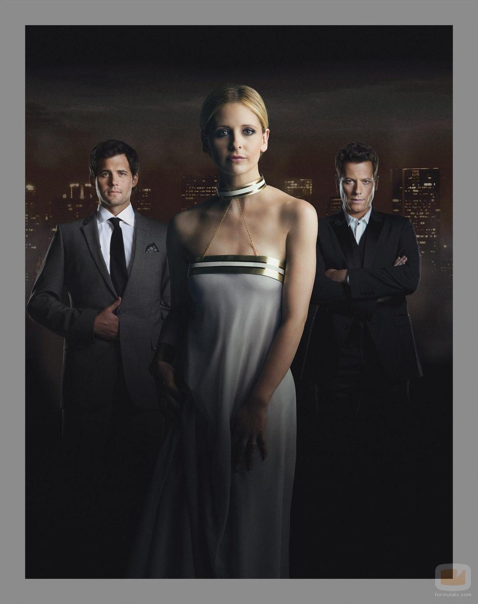Andrew, Henry y Siobhan (Bridget) de la serie 'Ringer'