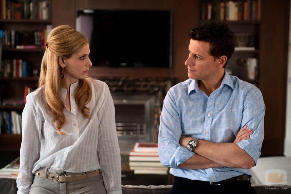 Siobhan (Bridget) habla con su marido Andrew